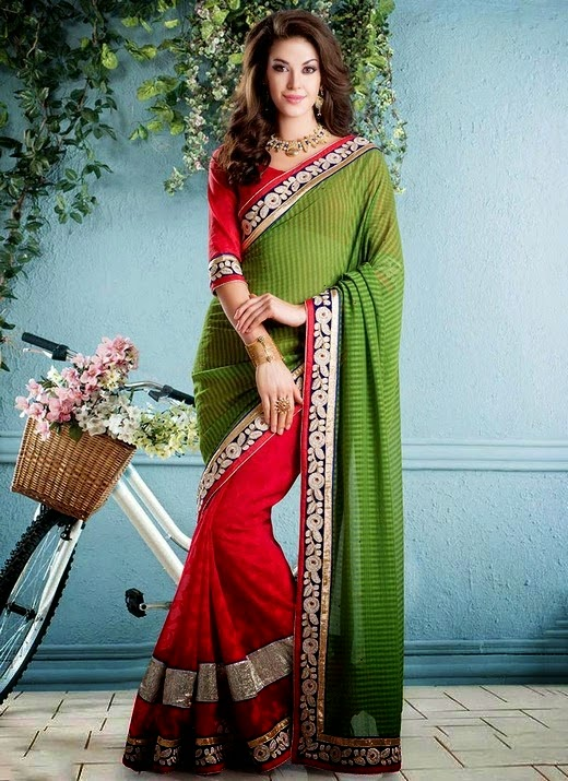 Blended Festive Indian Saree Collection for Eid 2014