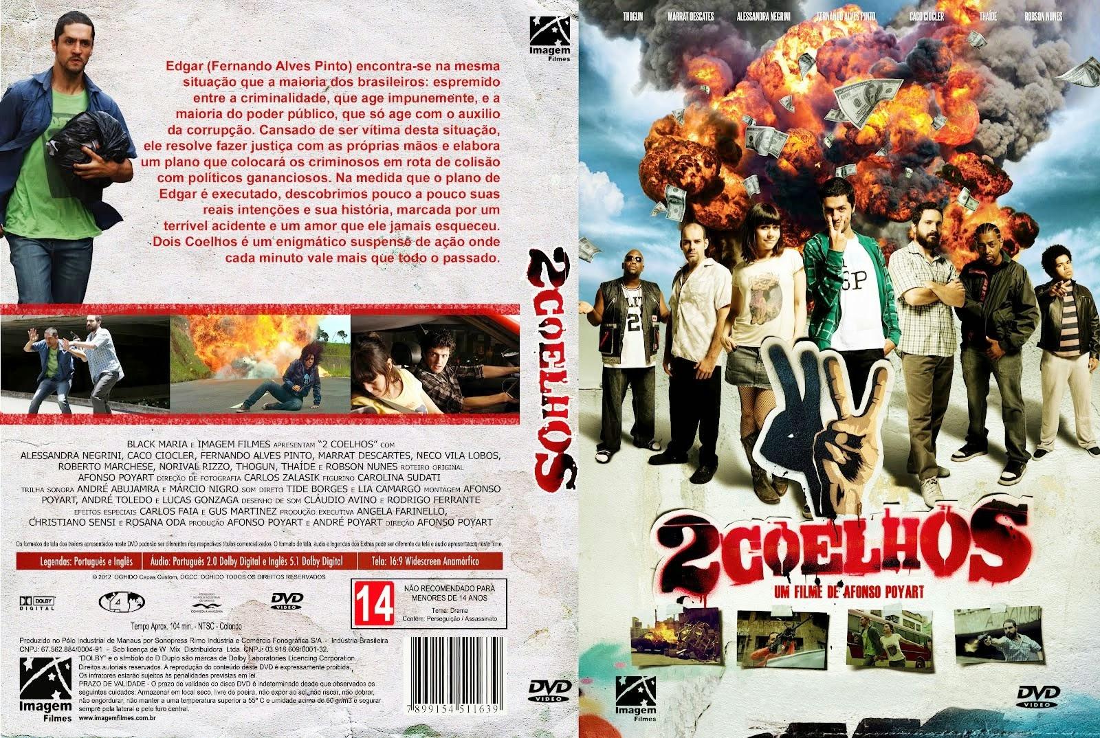 2 Coelhos DVD Capa
