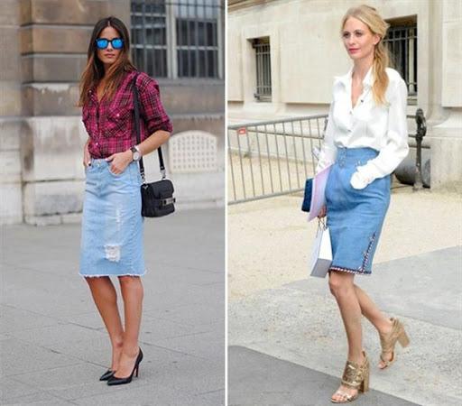 Best Denim Skirt Outfit Ideas for 2016/2017