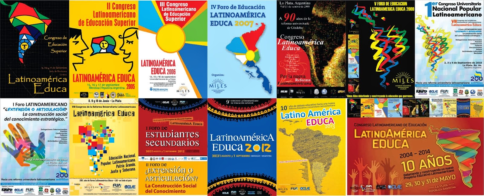10 AFICHES - 10 AÑOS debatiendo un nuevo Proyecto Educativo