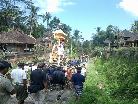Ngaben procession in Bangli and Pelebon in Ubud Gianyar on July 28, 2012