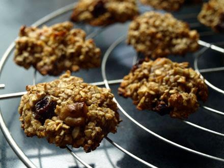 Sweet Kwisine, cookies, bananes, cranberries, canneberge, flocons d'avoine, sans beurre, sans oeuf