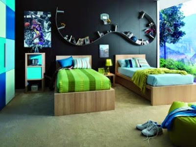 Double Bed Designs for Teenage Boy