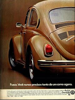 Volkswagen. brazilian advertising cars in the 70. os anos 70. história da década de 70; Brazil in the 70s; propaganda carros anos 70; Oswaldo Hernandez;