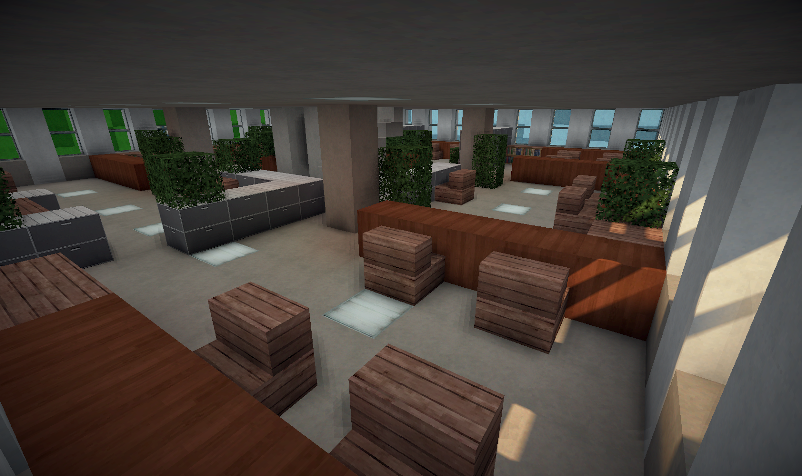 Minecraft Office Building Inside Interior Designs