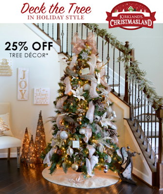 25 off christmas ornaments tree decor at kirklands plus 2000 off code