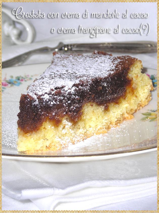 Crostata con crema di mandorle al cacao