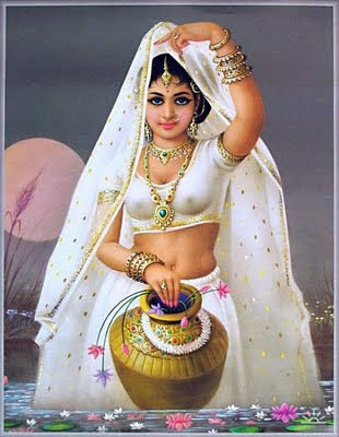 Indian Art Painting: A Beautiful Rajasthani Women 1