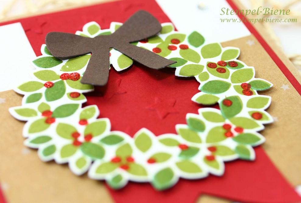 Stampin Up Willkommen Weihnacht, Stampin Up Weihnachtskarte, Match the Sketch, traditionelle Weihnachtskarte, stampin Up Türkranz, Stampin up Winterkatalog, Stampin up Weihnachtsstempel