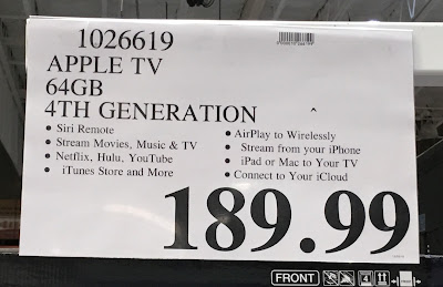 Deal for the 4th generation Apple TV at Costco