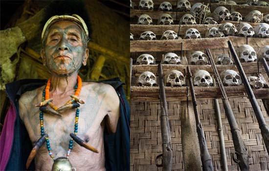 Inilah Suku Kaum Pemburu Kepala Manusia