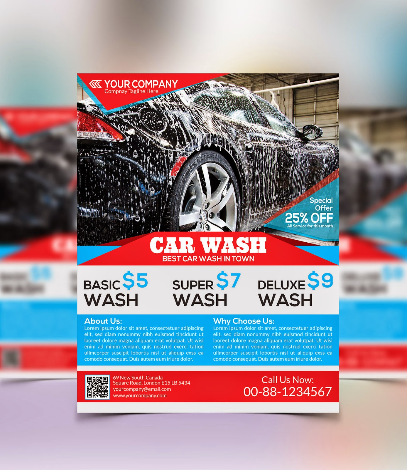 Graphicwind Car Wash Flyer
