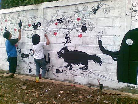 Brianarzko for Mural hitam putih