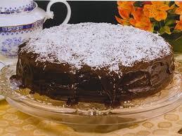 Receita de Bolo Cremoso de Chocolate com Coco