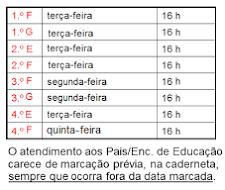 Atendimento aos Enc. Educação