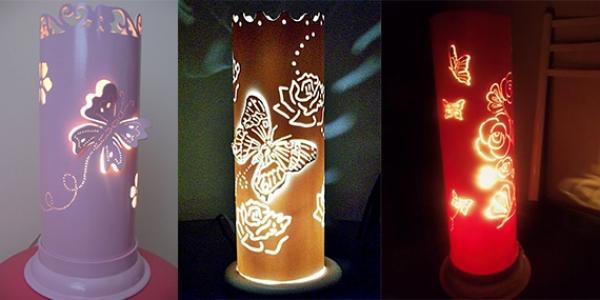 Artesanato Com Garrafa Pet Para Pascoa ~ Lili Artesanato Luminária em PVC