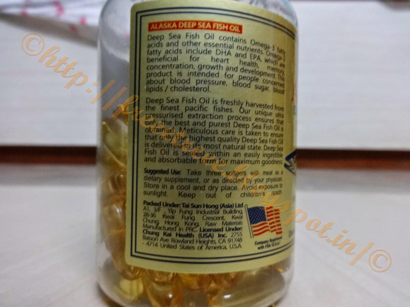 Sunline alaska deep sea fish oil omega 3 softgels review for Alaska deep sea fishing