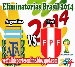 Argentina vs Perú en vivo | Viernes 11 de Octubre de 2013 | Eliminatorias Brasil 2014 Online