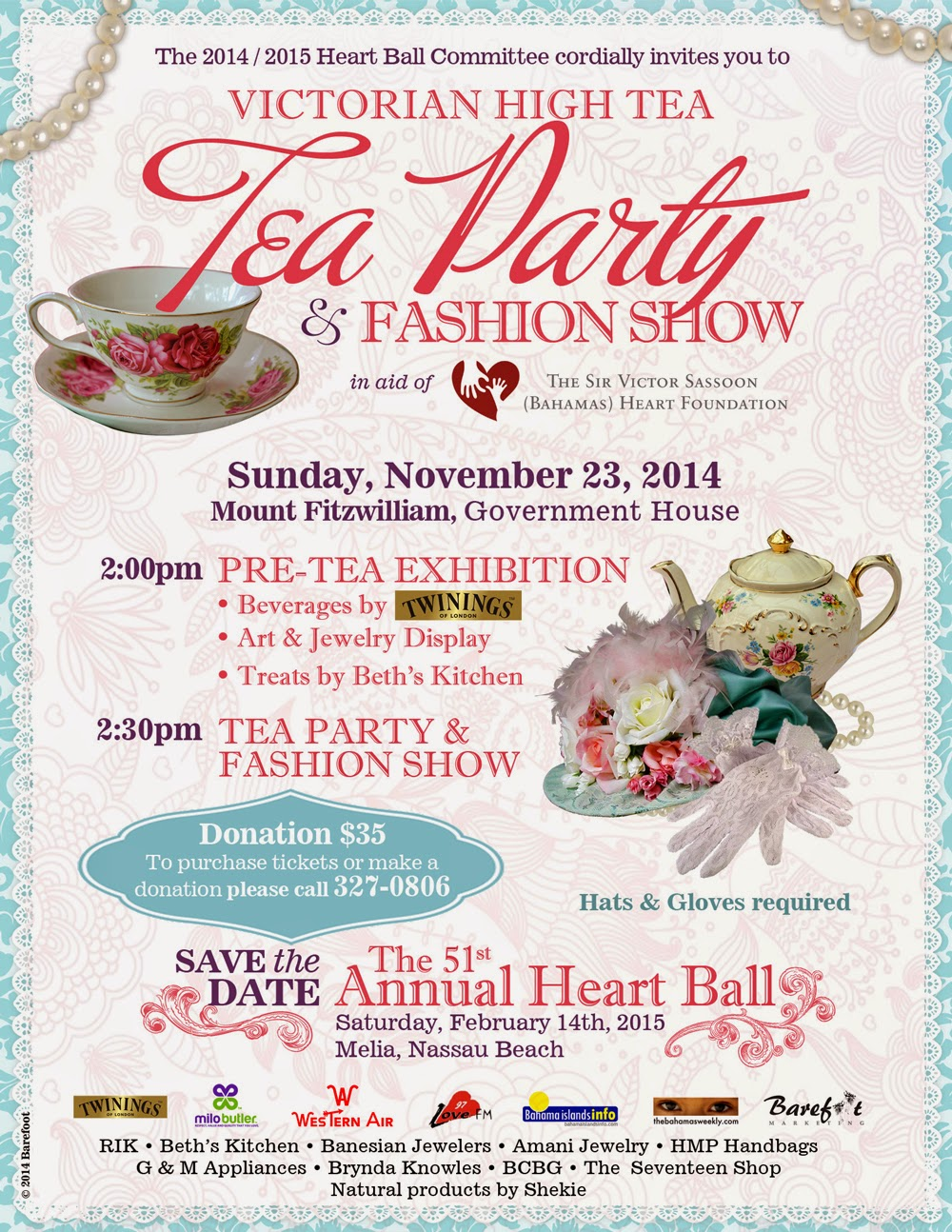 Native Stew :: Bahamas News: Heart Ball Committee\'s Tea Party ...