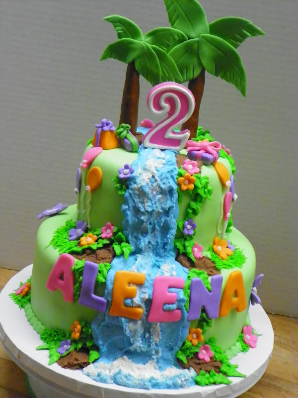 Plumeria Cake Studio Dora the Explorer Waterfall Birthday Cake