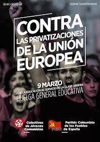 9 MARZO, HUELGA EDUCATIVA