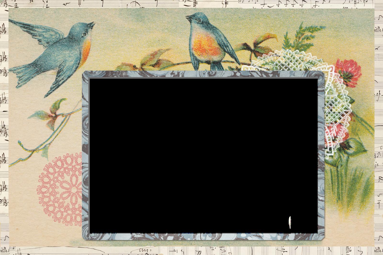 jodie lee designs freebie vintage postcard blog frame
