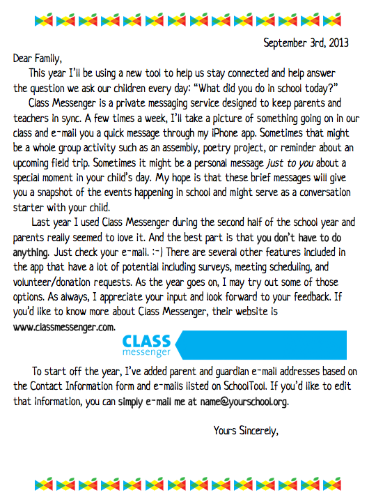 if you like what you see you can download this class messenger parent letter for free and adjust it to suit your needs