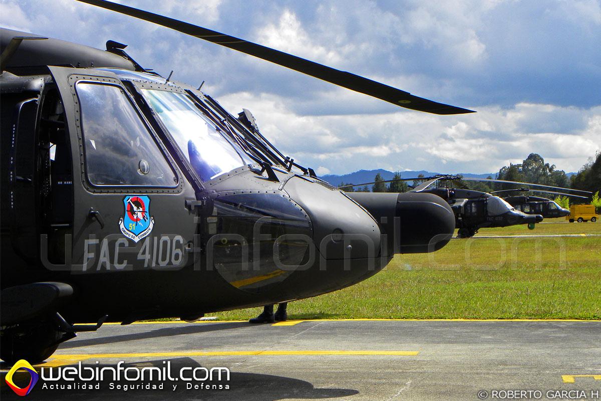 El helicóptero modernizado se unió de inmediato a la línea de vuelo de la flota de Black Hawks de la Fuerza Aérea Colombiana.