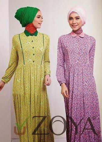 Gamis zoya terbaru modern dress zoya Baju gamis zoya