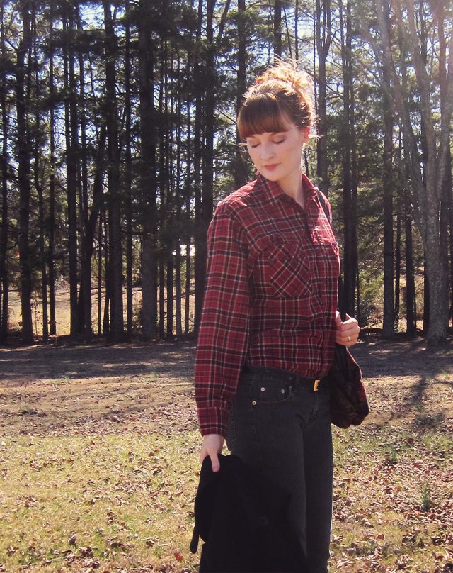 Thrifted plaid shirt