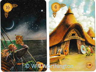 Celtic Lenormand stars house