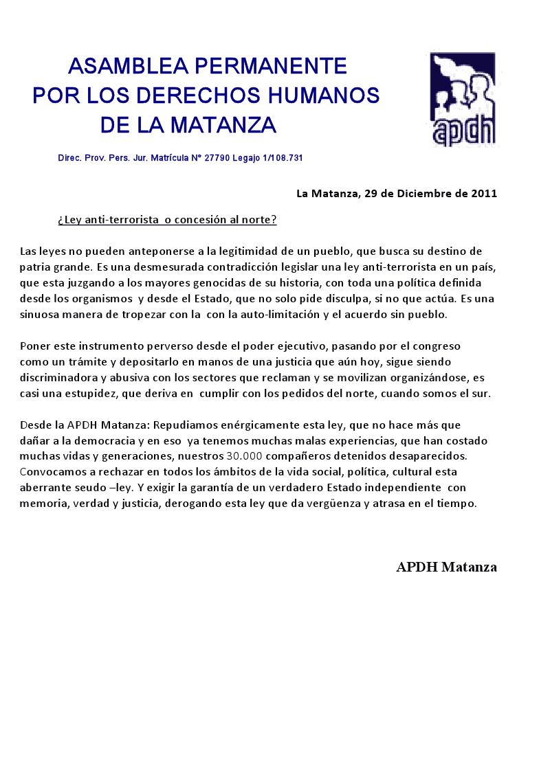 RECUPERANDO NUESTRA IDENTIDAD: diciembre 2011