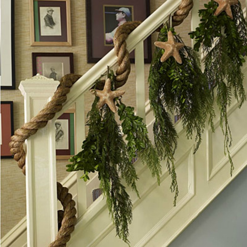 Christmas Decorations For The Beach House : Ways to coastal holiday decorating
