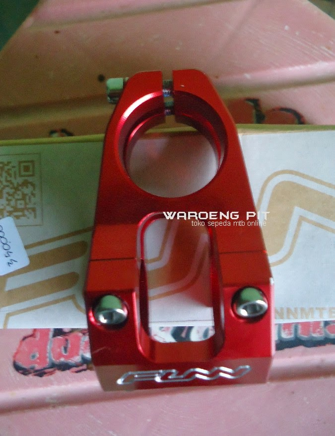 Jual stem funn merah silver sepeda mtb gunung downhill murah spareparts suku cadang accesories sepeda 3