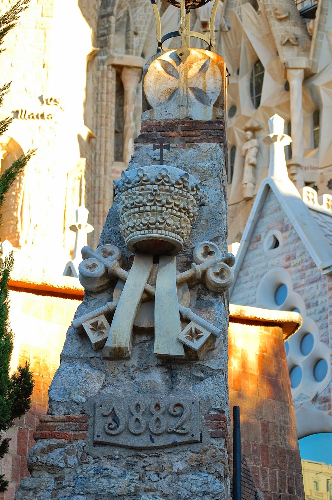 Construction on Sagrada Família began in 1882