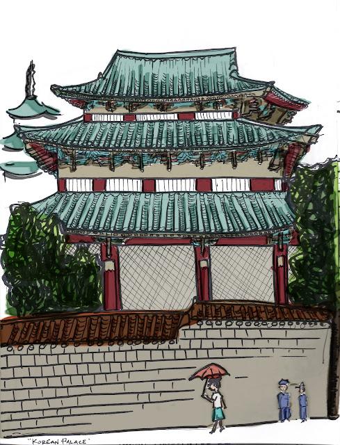 seoul palace sketch