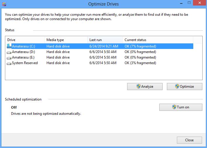Mempercepat Kinerja Komputer Dengan Disk Defragmenter 4