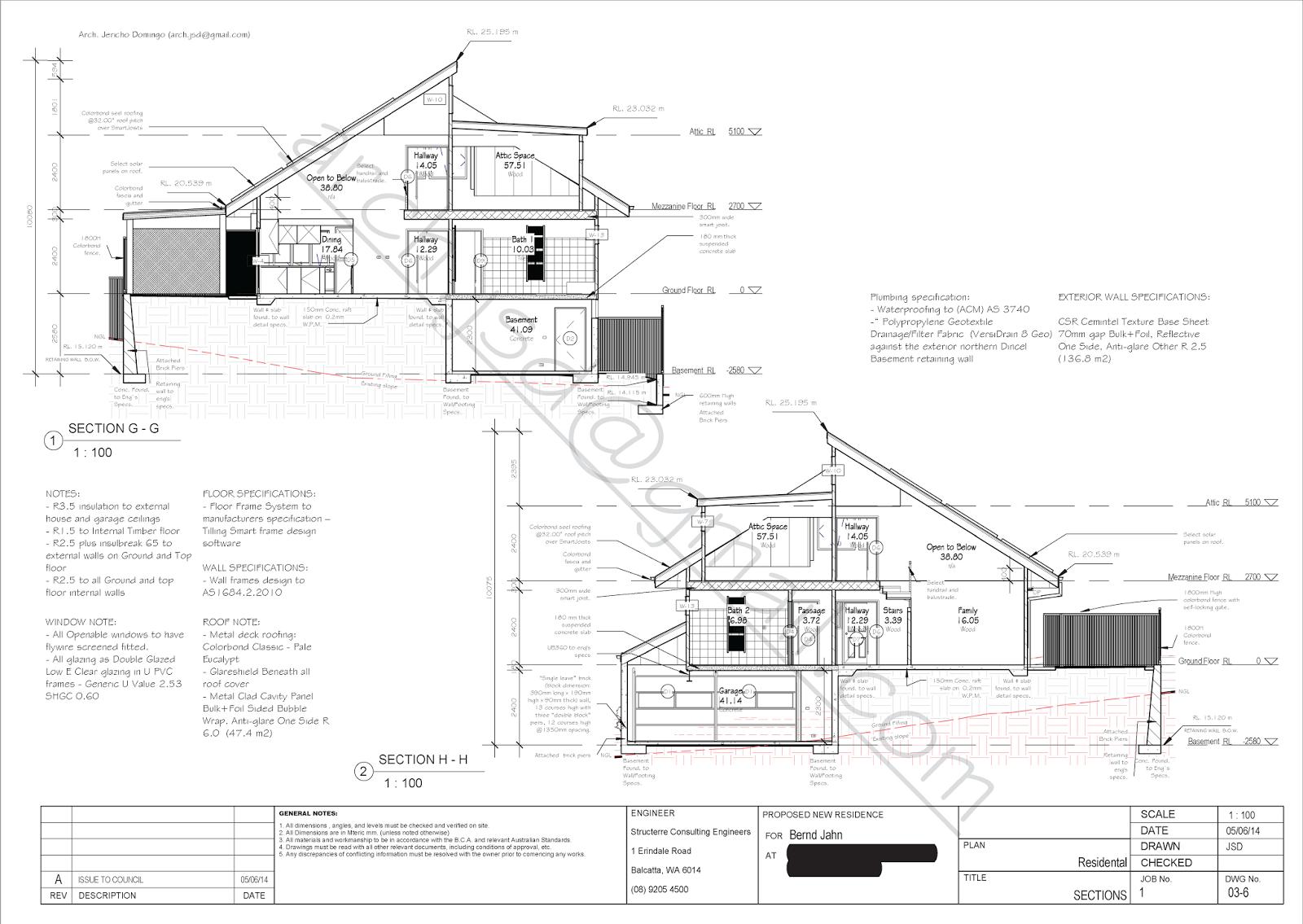 bernd jahn residence drawings