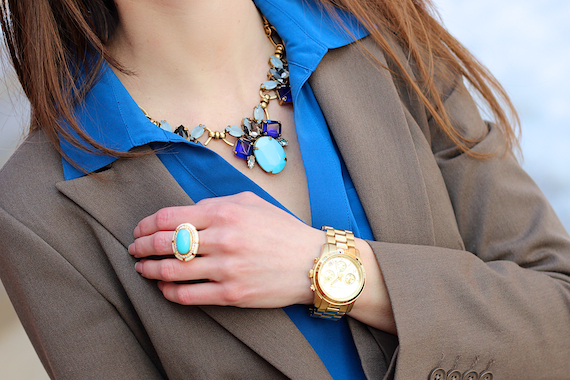 JCrew Statement Necklace - Cobalt, Turquoise, Gold | StyleSidebar