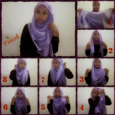 cara memakai hijab paris ala dian pelangi