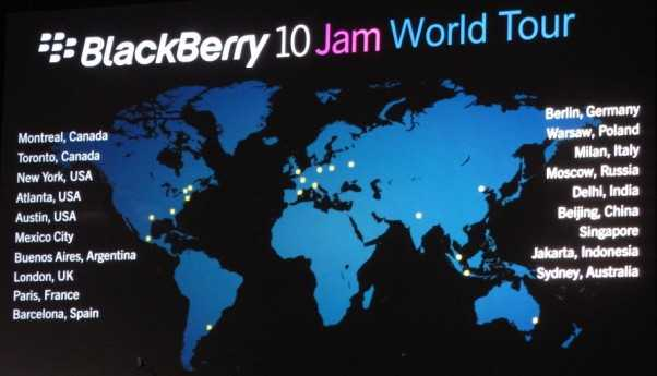 BlackBerry 10 Jam World Tour Registrations Open