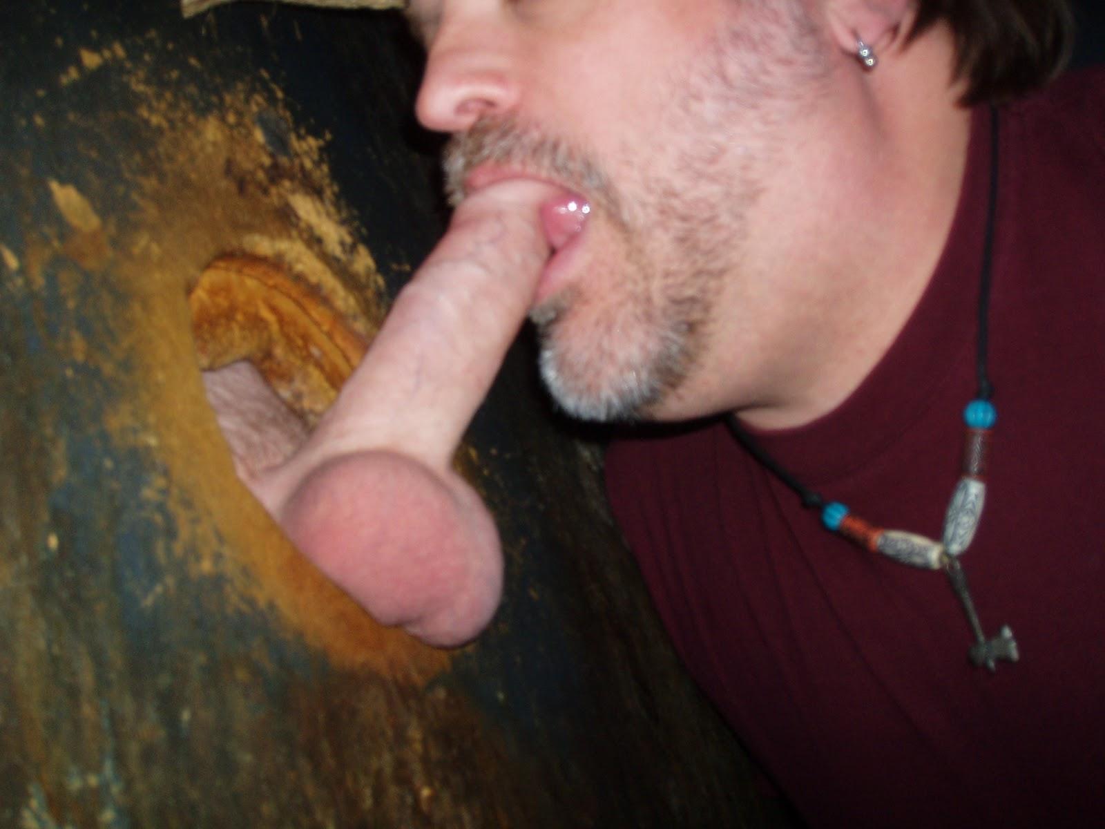 Handjob hole pee