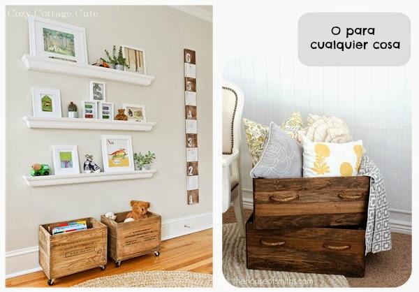 De chocolate frambuesa decorar con cajones de madera for Como reciclar un escritorio de madera