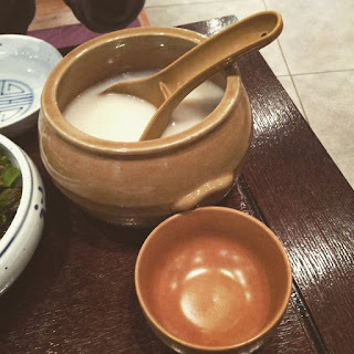 Hot Makgeolli at Seoul Gogung Myeongdong