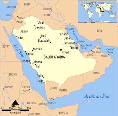 Kaart topografie landen midden oosten