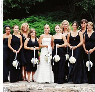 Black  White Wedding Dress on Black And White Bridesmaid Dress Design 4 Black And White Wedding