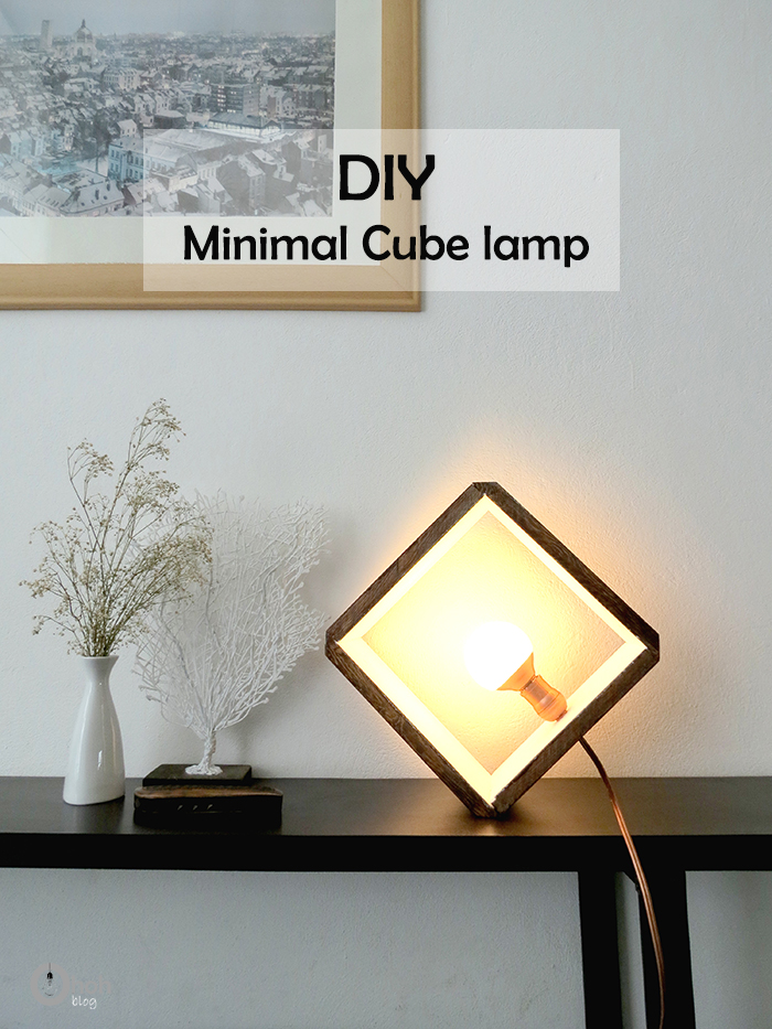 Diy Wooden Wall Lamps : DIY wooden cube lamp - Ohoh Blog