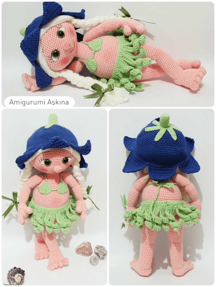 Amigurumi Askina Bebek : Amigurumi Hawaili Lana Doll - Tiny Mini Design