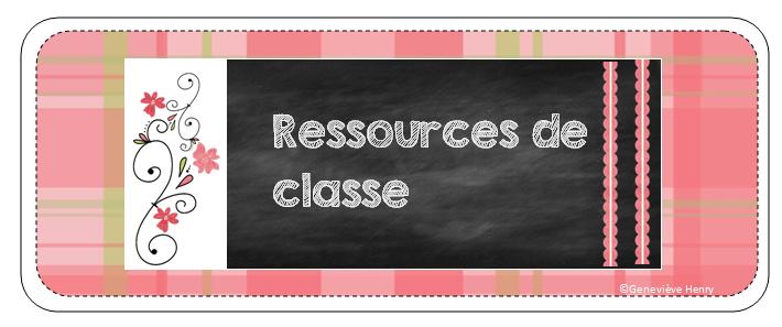 Ressources de classe