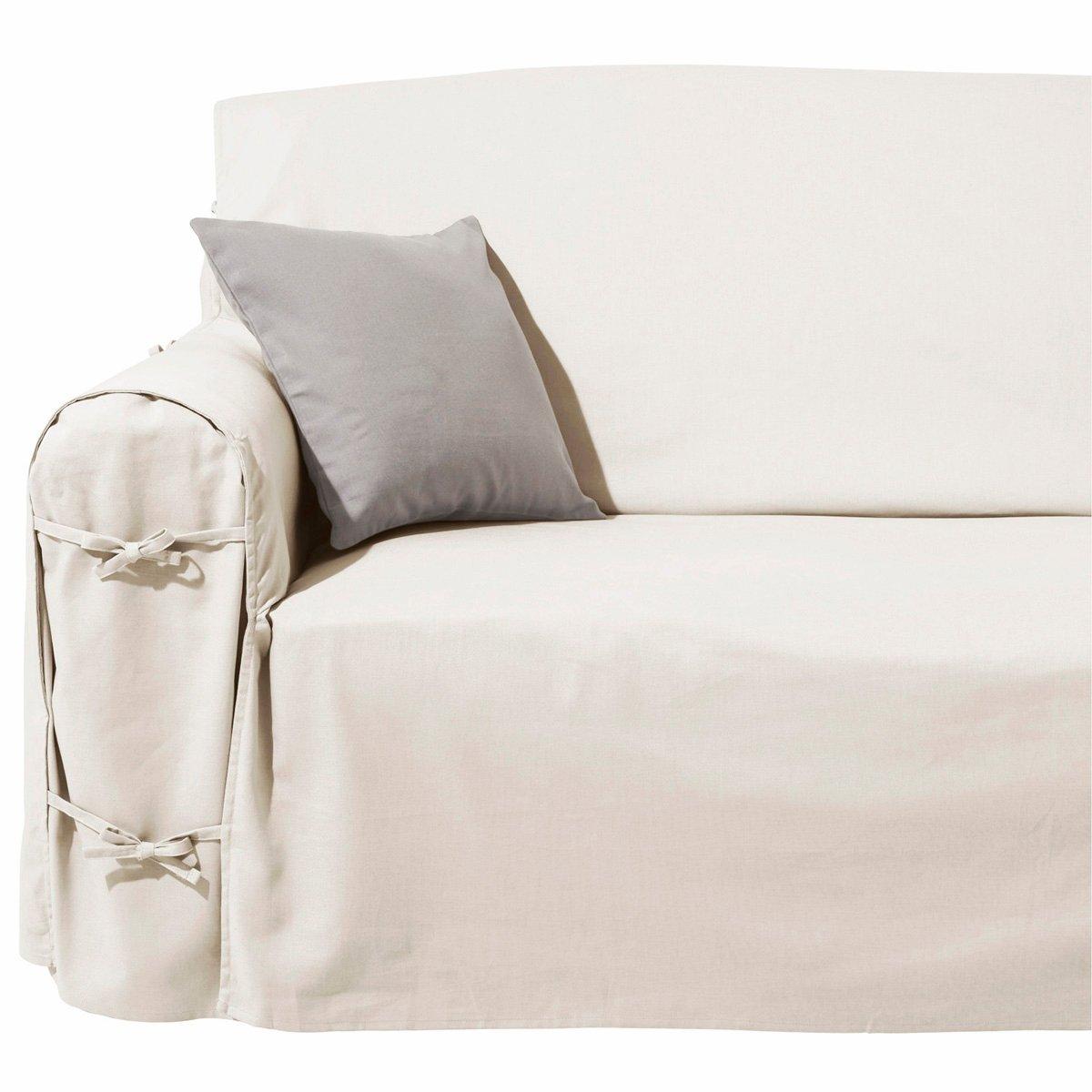 The busy woman and the stripy cat a sofa slipcover uma for La redoute fundas sofa